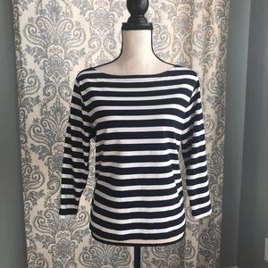 J Crew Structured Boat Neck Tee